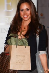 Check out Meghan's bag..it's Eminence skin care products!